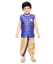 Shree Shubh Ethnic Dhoti Kurta Set - Blue