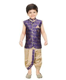 Shree Shubh Ethnic Dhoti Kurta Set - Purple