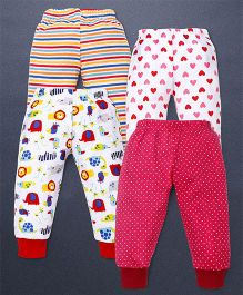 Kidi Wav Multi Print Pack Of 4 Pajamas - Multicolour