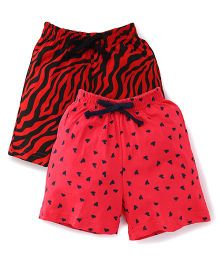 Doreme Casual Shorts Pack of 2 - Pink Red