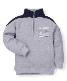Doreme Full Sleeves Printed Sweatshirt - Grey