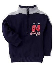 Doreme Full Sleeves Printed Sweatshirt - Navy