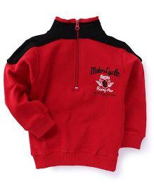Doreme Full Sleeves Printed Sweatshirt - Red