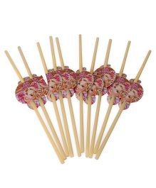 Barbie Straws Yellow Pack of 10 - 25 cm