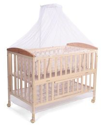 Mee Mee Caby Cot CH-288 - Light Brown
