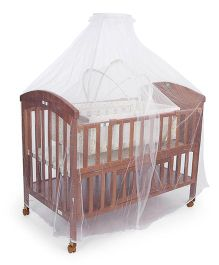 Mee Mee Caby Cot With Cradle MM-667 A - Brown