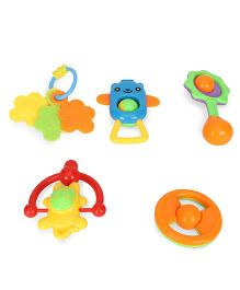 Smiles Creation Rattle Set Multi Color - Pack of 5