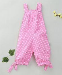 Little Fairy Dot Print Dungaree - Pink