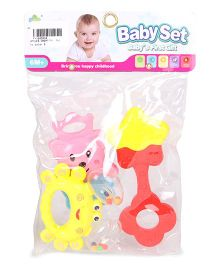 Smiles Creation Rattle Set Pack Of 3 Pieces - (Color May Vary)