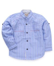 Kiddy Mall Striped Full Sleeves Shirt - Blue