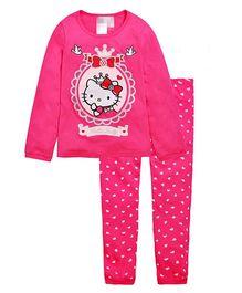 Wonderland Cute Kitty With Sparkle Print Night Dress - Pink