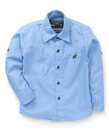 Jash Kids Full Sleeves Solid Color Shirt - Sky Blue