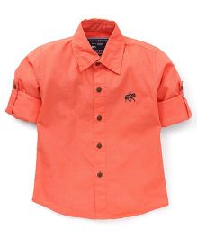 Jash Kids Full Sleeves Solid Color Shirt - Dark Peach