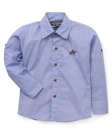 Jash Kids Full Sleeves Dot Print Shirt - Blue