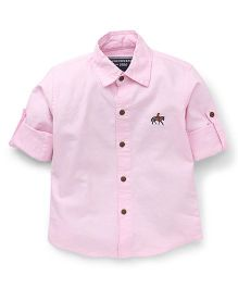 Jash Kids Full Sleeves Solid Color Shirt - Light Pink