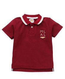 Kiddy Mall Polo Half Sleeves T-Shirt - Maroon