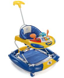 Mee Mee Walker Cum Rocker With Push Handle - Blue Yellow