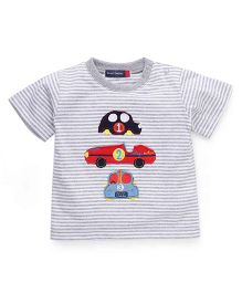 Great Babies T-Shirt With 3 Car Patches - Grey