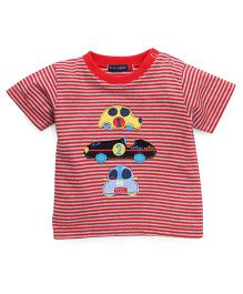 Great Babies Car Patches T-Shirt With Snap Buttons - Red