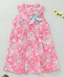 Little Fairy Floral Print Dress - Pink