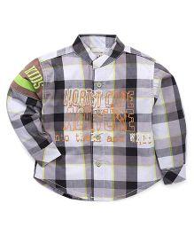 Kiddy Mall Full Sleeves Plaid Shirt - Grey & Brown