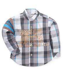 Kiddy Mall Full Sleeves Plaid Shirt - Grey & Blue