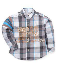 Kiddy Mall Full Sleeves Plaid Shirt - Grey & Blue