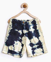 Stylestone Denim Tie N Dye Wash Shorts - Blue