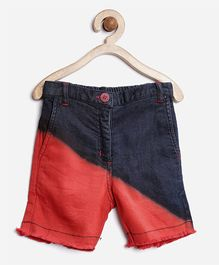Stylestone Denim Washed Shorts - Red