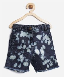 Stylestone Shorts With Cloud Effect Wash - Blue