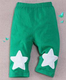 Superfie Star Printed Leggings - Green
