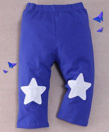 Superfie Star Printed Leggings - Blue