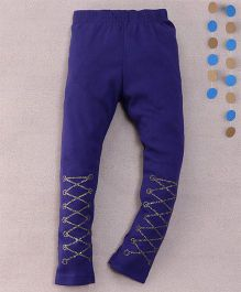 Superfie Patterened Leggings - Blue