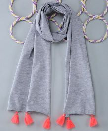 Popsicles Clothing By Neelu Trivedi Jersey Scarf - Melange Grey