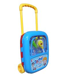 Emob Musical Doctor Play Set With Trolley Bag - Blue Red