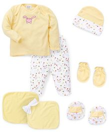Mee Mee Clothing Gift Set Bunny Design Pack Of 7 - Yellow