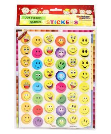 Sticker Bazaar Smiley A4 Foam Sparkle Stickers - Multi Color