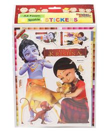 Sticker Bazaar A4 Foam Little Krishna Sticker Set