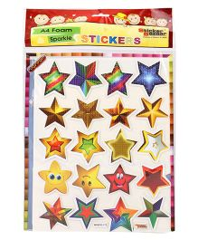 Sticker Bazaar A4 Foam Star Sticker Set