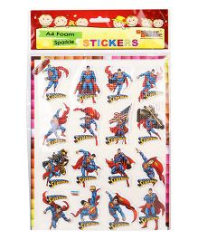 Sticker Bazaar Superman A4 Foam Sticker Set - Red Blue