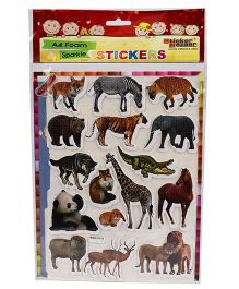Sticker Bazaar A4 Size Animal Foam Stickers - Multi Color