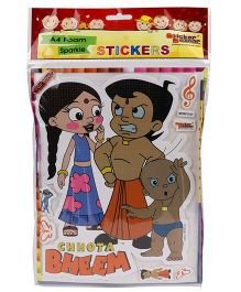Sticker Bazar Chhota Bheem A4 Foam Sticker Set - Multi Color