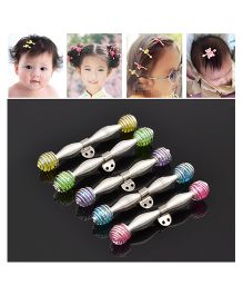 Akinos Kids Set Of 2 Spring Stretch Trendy Character Hair Clip Set For Baby Girl - Multicolour