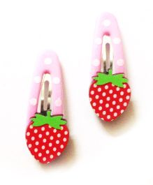 Akinos Kids Strawberry Fruit Tic Tac Clip - Red & Pink
