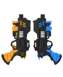 Rayshot Interactive Pair Of Toy Guns - Blue & Orange