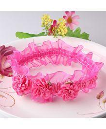 Dazzling Dolls Pretty Floral Head Band - Pink