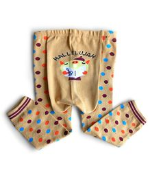 Dazzling Dolls Polka Dot Warm Leggings - Peach