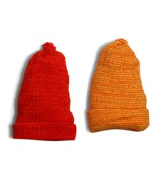 Soft Tots Set Of 2 Cherry Caps - Red & Yellow