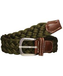 One Friday Boys Braided Belt - Green