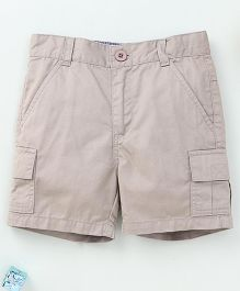Torch & Tiny Casual Shorts With Front Pockets - Beige